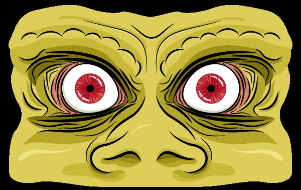 Orc eyes looking very cross indeed